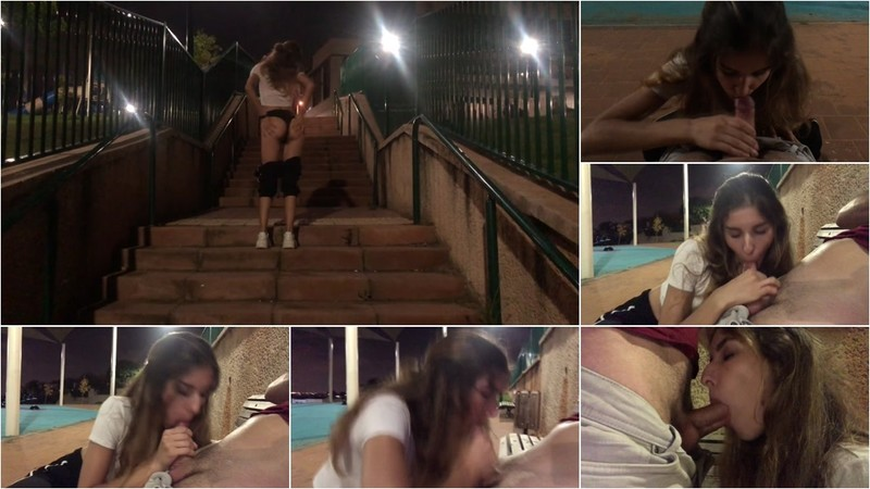 PassionDessire - Sudden Blowjob in the Park. Pulsating Cum Mouth. [FullHD 1080P]