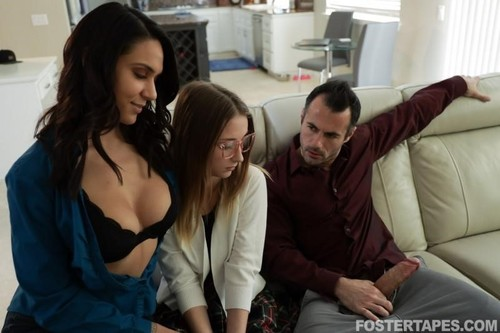 Macy Meadows, Alexis Zara - Lonely Foster Daughter Offers Her Body (2020/SD)