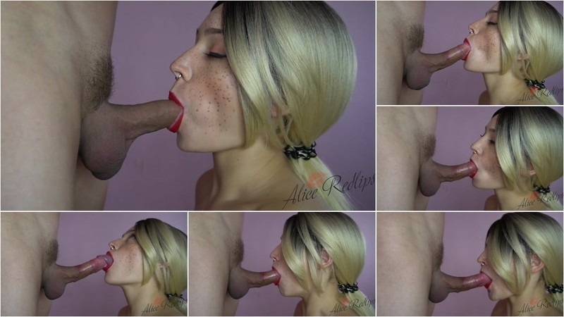 Alice Redlips - Gorgeous Sloppy Blowjob [FullHD 1080P]