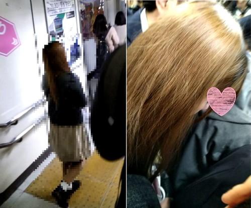 梟の痴漢報告009(冬なのに生足で最強な電車に乗るOK女子大生)