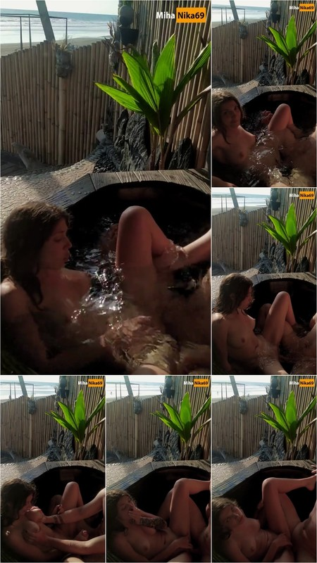 MihaNika69 - Real Outdoor Sex on a Public Beach - Cum on Belly [FullHD 1080P]