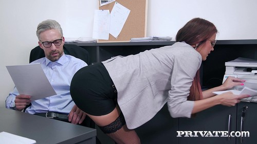 Anal Threesome At The Office [FullHD]