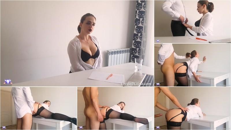 Cristall Gloss - Secretary Suck Cock Boss and Cum Doggystyle [FullHD 1080P]