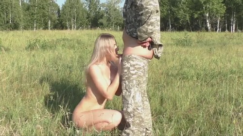Amateurs - Taking Out A Blonde Girl For Shooting With A Rifle (HD)