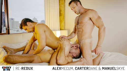 CockyBoys - Double Penetration: Alex Mecum, Carter Dane & Manuel Skye Bareback