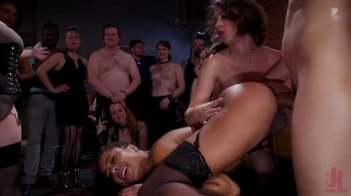 Slutty Teen Trained to Serve Orgy by Submissive Anal Queen Kira Noir