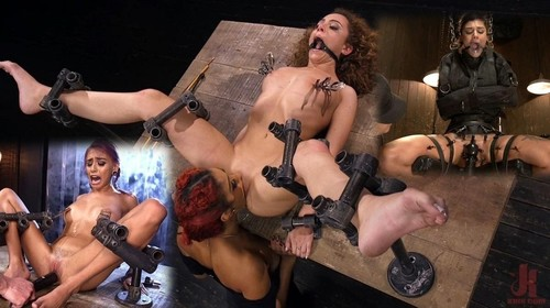 Flood Submissive Women Bound In Metal And Made To Squirt [SD]