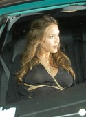 Pics of Jessica Alba's Pregnant Boobs on Display in See Through Top!
