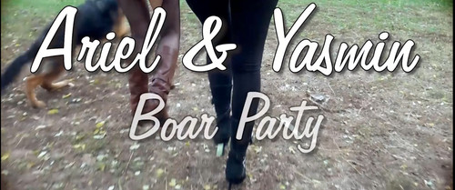 Woman And Dog K9lady Ariel And Yasmin Boar Party ( New )
