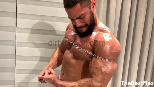 TheBestFlex - Airon: Oiled Up and Chained Up Muscle Power