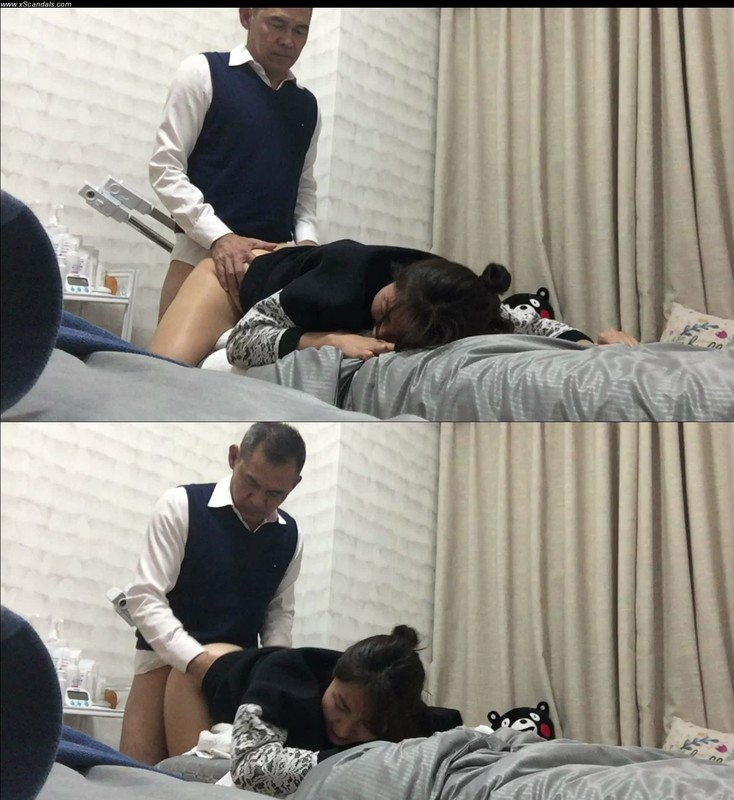 Young girl show respect for old man – massage and fuck