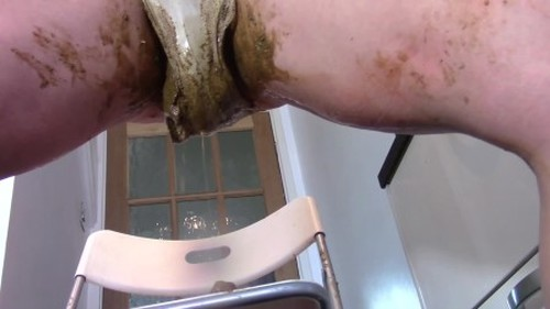 Evamarie88 - Giant Panty Enema Shit - Solo Scat, Defecation, Shiting Girl, Dirty