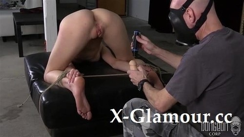 Blonde Babe Tortured With A Hook In Her Ass [HD]