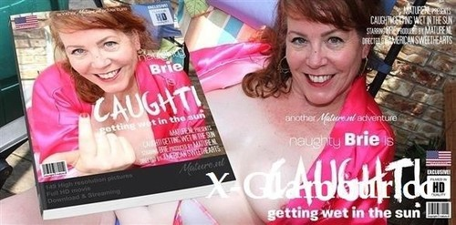"""Brie in """"Mature Briewith Her Long Hard Nipples Is Getting Caught Playing With Herself In The Garden"""" [SD]"""