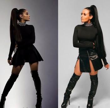 Zelina Vega Cosplayed Ariana Grande (Photo)