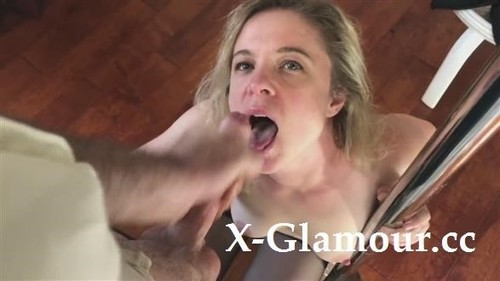 Stunning Milf In Black Lingerie Getting A Facial [HD]