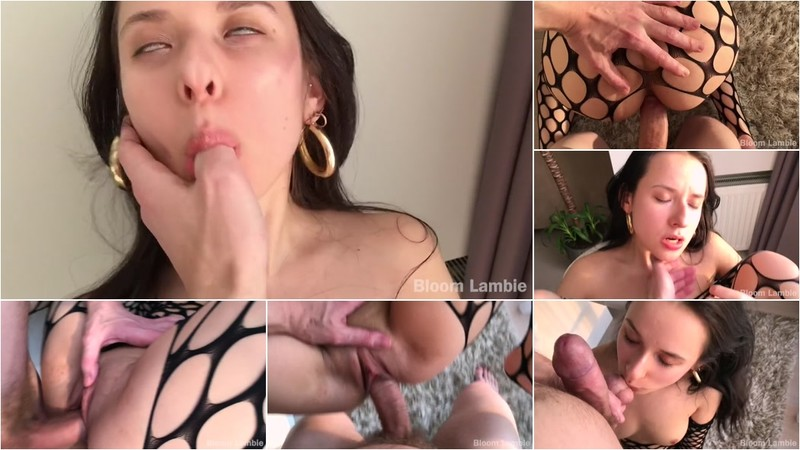 Bloom Lambie - Young Girl in Fishnet Rough Sex [HD 720P]