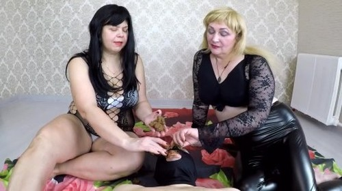 Annalise - Big Ladies Feeds Toilet Slave - Femdom Scat, Domination Scat
