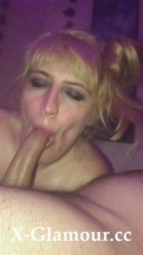 Delicious Sloppy Sensual Blowjob From A Blonde Amateur With Pig Tails [SD]