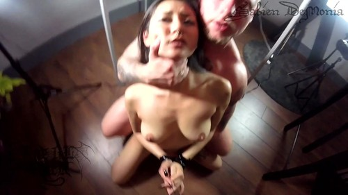 Rae Lil Black – Slave In Cage Serves For Two Masters Hardcore Threesome