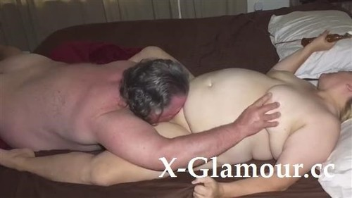 Chubby Wife Screams While Her Hubby Is Licking Her Pussy Clean [HD]