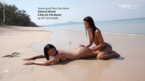 [Hegre-Art] Chloe And Hiromi - A Day On The Beach - idols