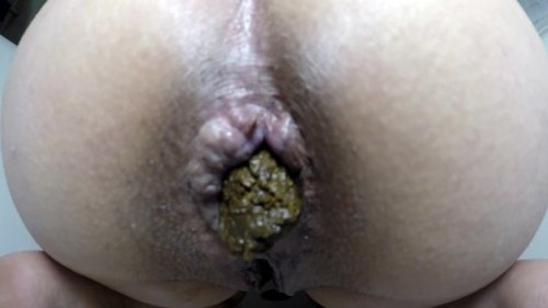 ElenaToilet - Monster Shit Out Off My Ass - Solo Scat, Defecation, Shiting Girl