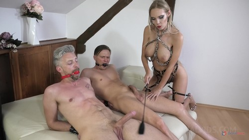 LegalPorno - BDSM Dominatrix Slut Florane Russell and her anal slave Freya Dee HARDCORE fucking balls deep and anal bondage NF014