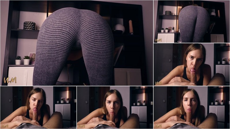 VictoriaLovesMe - Sexy Girl in Yoga Pants gives a Quick Blowjob ( cumshot) [FullHD 1080P]
