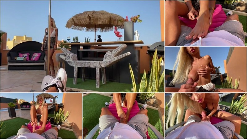 VanityRose - Geiler foot and blowjob - Public [FullHD 1080P]