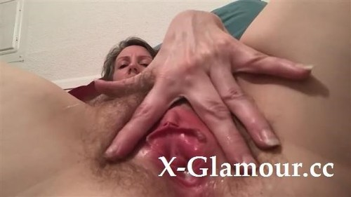 Long Dildo Stretches A Hairy Pussy [HD]