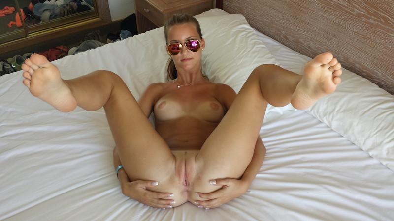 hot blonde naked