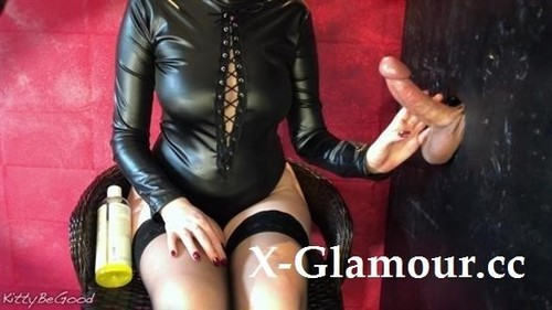 Gloryhole Edging Session Ends With Huge Cumshot On Nylons [FullHD]