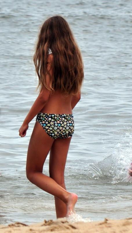 college teen in lovely star-bikini