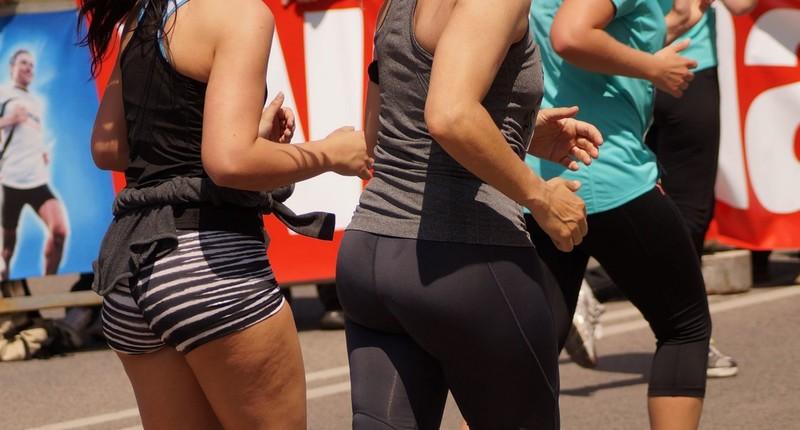 marathon butts in tight spandex