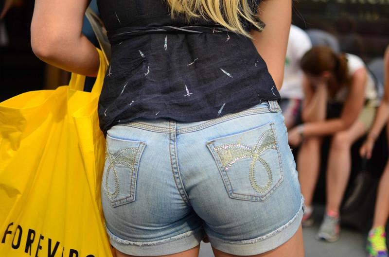 pretty butt in denim shorts