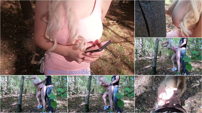 SweetSophie69 - A Young Nymphomaniac got Lost in the Forest and was Fucked by a Stranger. [FullHD 1080P]