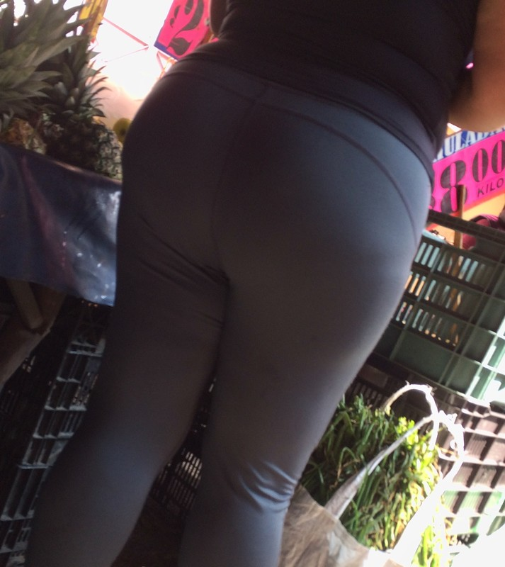 pretty mature ass in tight fitness pants
