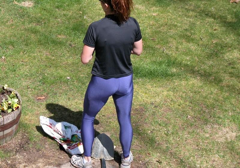 gardner milf in sexy reebok yoga pants