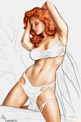 Hot Superheroines in Artwork by Raffaelemarinetti