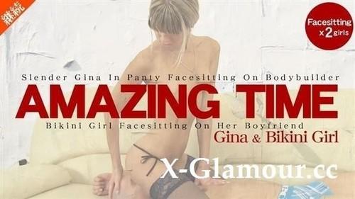 2053 - Amazing Time. Bikini Girl Facesitting On Her Boyfriend [HD]