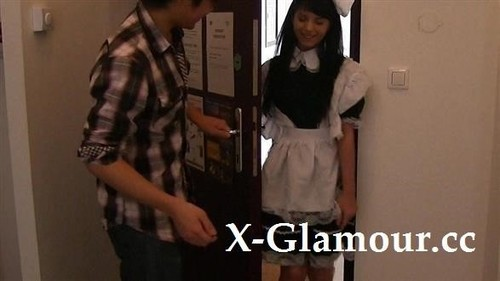 Brunette Maid And Japanese Guy [HD]