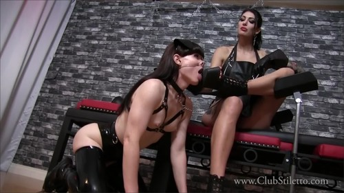 [ClubStiletto] Mistress Damazonia, Natalie Mars - My filthy little Piggy [HD, 1080p]