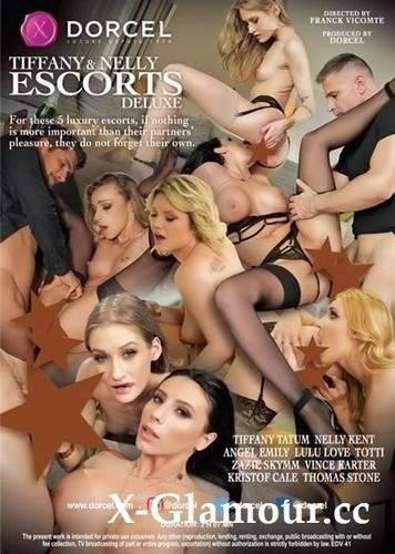 Tiffany Tatum, Angel Emily, Zazie Skymm, Kristof Cale, Nelly Kent, Vince Carter, Thomas Stone, Totti, Lulu Love - Tiffany And Nelly Escorts Deluxe [SD/480p]