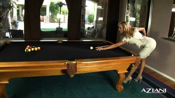 Brandi Love plays a game of pool, 576p