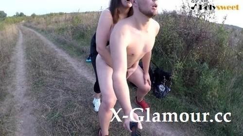 Polysweet - Public Strapon Sex Near The Road English Subtitles