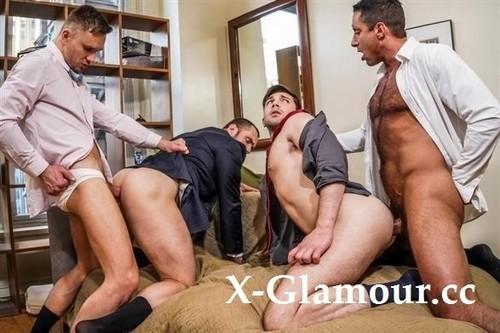 Stas Landon, Nick Capra, Ben Batemen, Andrey Vic  The City, Suits, And Sex  Lvp354-02 Gentlemen 29 Servicing The Ceo, Scene 2 [HD]