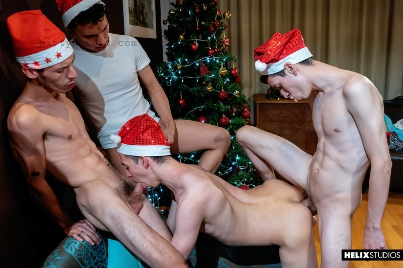 Helix - Red Hot Festivities Part 1: The Threesome Before Christmas Bareback (Dec 18)