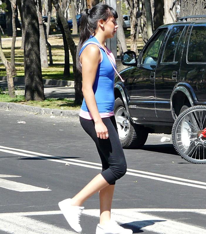 bicycle girls in tight leggings