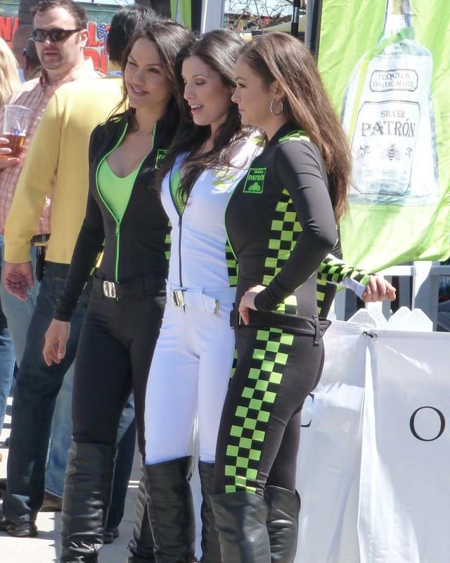 beautiful promo girls in catsuits